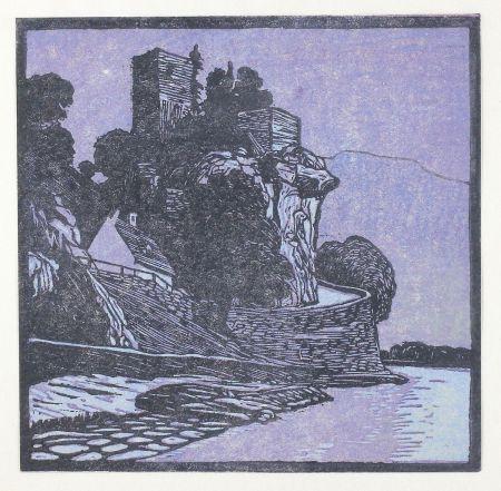 Grabado En Madera Henneberg - Werfenstein