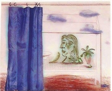 Grabado Hockney - What is this Picasso?