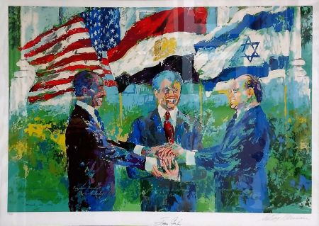 Serigrafía Neiman - WHITE HOUSE SIGNING OF EGYPTIAN ISRAELI PEACE TREATY