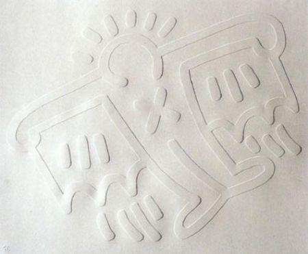 Serigrafía Haring - White Icons: Batman