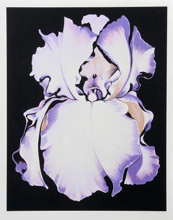 Serigrafía Nesbitt - White Iris on Black