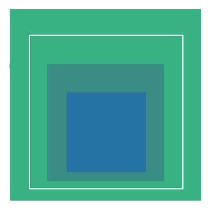 Litografía Albers - White Line Square III, 1966