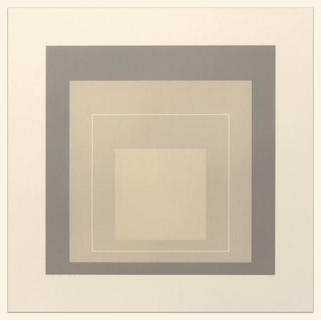 Litografía Albers - White Line Squares (Series II), XIV