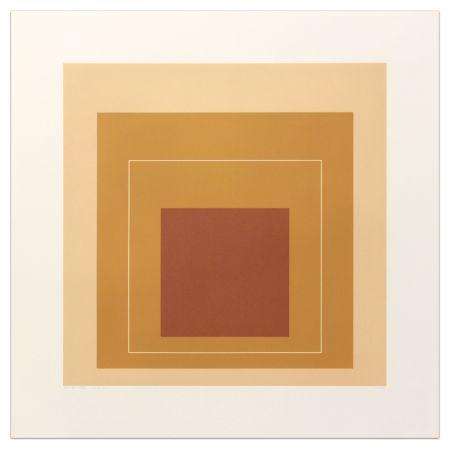 Litografía Albers - White Lines Square XVI