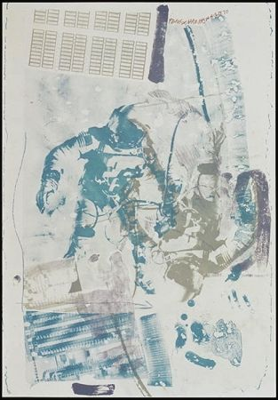 Litografía Rauschenberg - White Walk, from Stoned Moon series