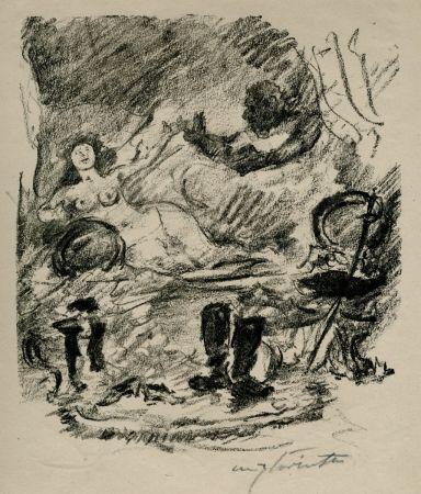 Litografía Corinth - Wiedervereinigung mit der zur Gräfin emporgestiegenen Aline
