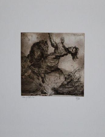 Aguafuerte Y Aguatinta Pöhlitz - Wilder Ritt