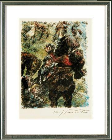 Litografía Corinth - Wilhelm Tell. Gesslers Tod