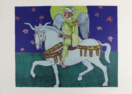 Litografía De Rosa - Winged Rider