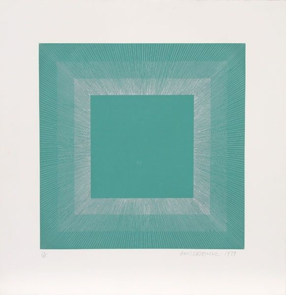 Aguatinta Anuszkiewicz - Winter Suite (Green with Silver)
