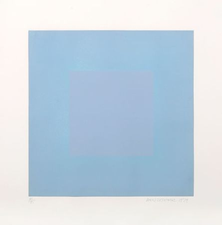 Aguatinta Anuszkiewicz - Winter Suite (Light Blue with Light Blue)