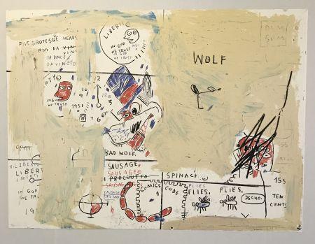 Serigrafía Basquiat - Wolf Sausage