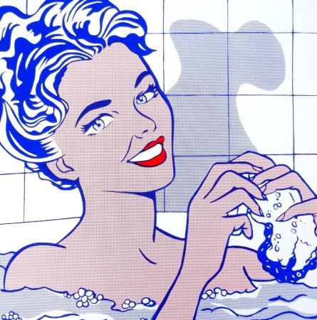 Serigrafía Lichtenstein - Woman In Bath