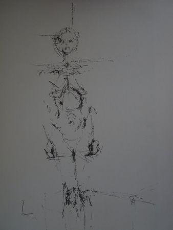 Litografía Giacometti - Woman standing