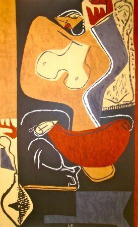 Litografía Le Corbusier - Woman with rising Hand