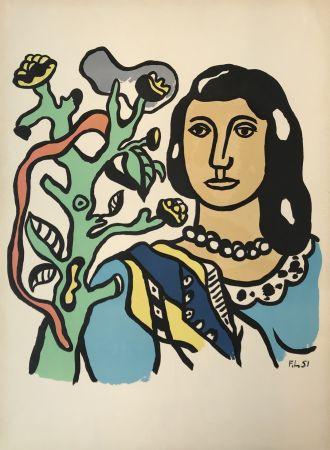 Litografía Leger - Woman with Tree