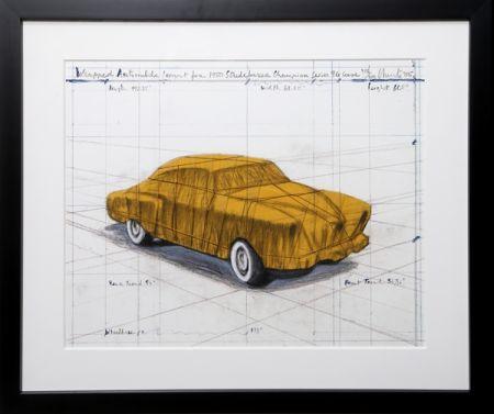 Serigrafía Christo - Wrapped Automobile (Project For 1950 Studebaker Champion Series)