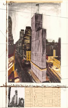 Múltiple Christo - Wrapped Building, Project for #1 Times Square, Allied Chemical Tower, New York City