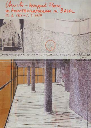 Cartel Christo - Wrapped Floors Architekturmuseum Basel