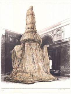 Litografía Christo - Wrapped Monument to Leonardo