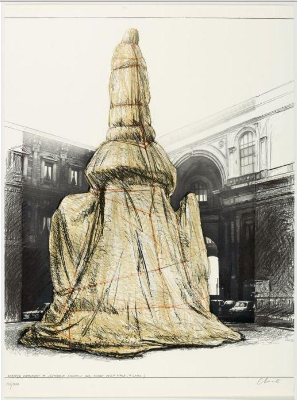 Múltiple Christo - WRAPPED MONUMENT TO LEONARDO