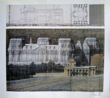 Serigrafía Christo - Wrapped Reichstag VI