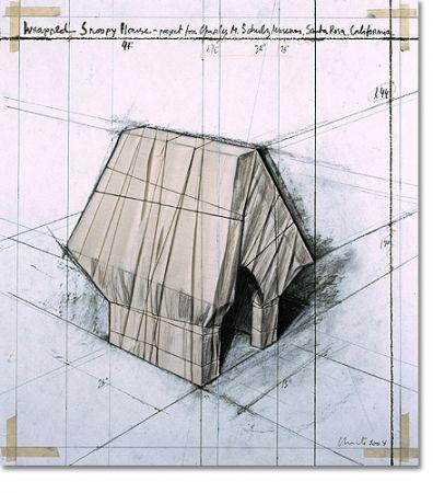 Litografía Christo - Wrapped Snoopy House