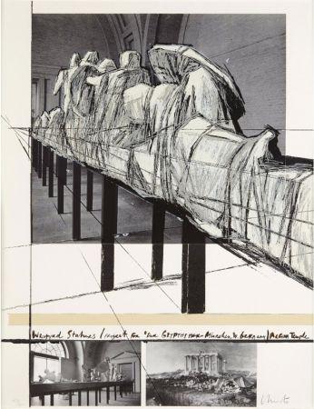 Serigrafía Christo & Jeanne-Claude - WRAPPED STATUES