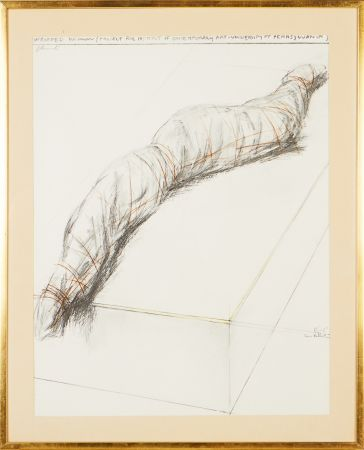 Serigrafía Christo - Wrapped woman - Project for the Institute of Contemporary Art, Philadelphia