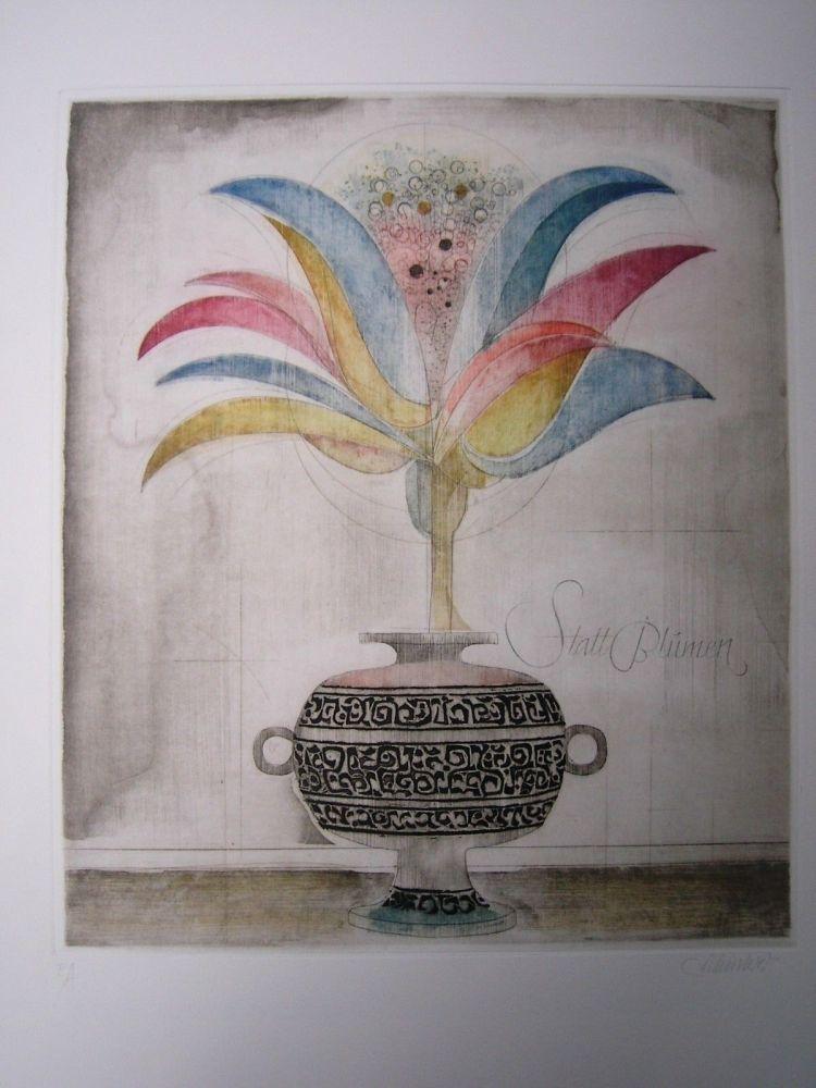 Aguafuerte Y Aguatinta Finsterer - Wunderblume