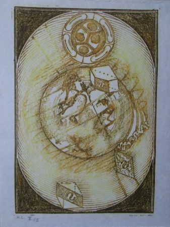Litografía Ernst - Wunderhorn, I