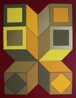 Serigrafía Vasarely - XICO 6