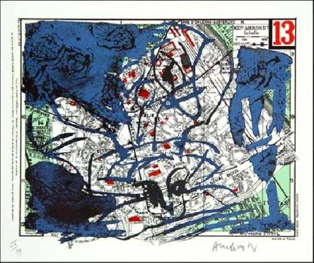 Litografía Alechinsky - XIIIe Arrondissement