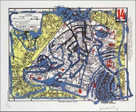 Litografía Alechinsky - XIVe Arrondissement
