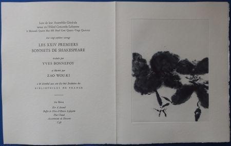 Aguafuerte Y Aguatinta Zao - XXIV Sonnets pour Shakespeare (Menu)