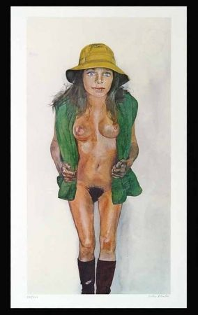 Litografía Blake - Yellow Hat