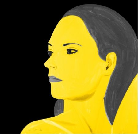 Litografía Katz - Yellow Laura
