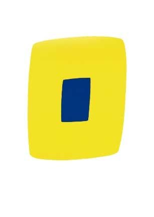 Litografía Kelly - Yellow with Dark Blue, 1964-65