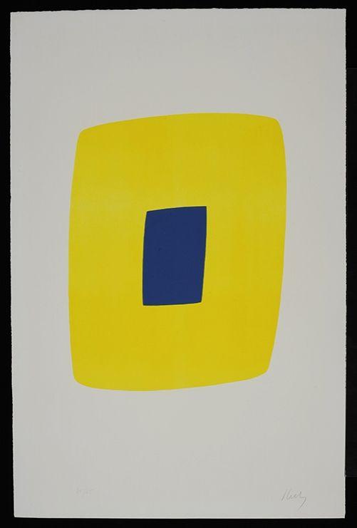 Litografía Kelly - Yellow with Dark Blue VI.12