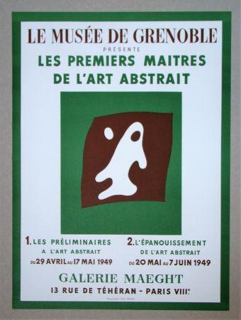 Litografía Arp - Yeux et Nez
