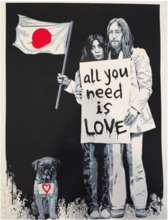 Serigrafía Mr Brainwash - Yoko Ono and John Lennon