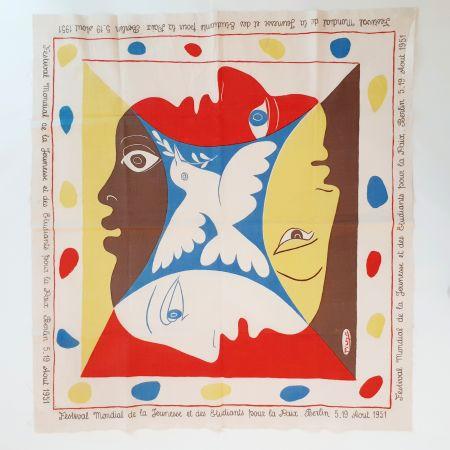 Serigrafía Picasso - YOUTH FESTIVAL SCARF 1951