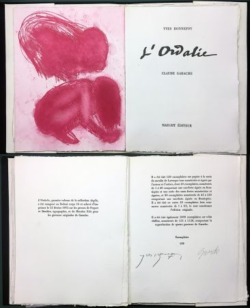 Libro Ilustrado Garache - Yves Bonnefoy. L'ORDALIE. Maeght 1975