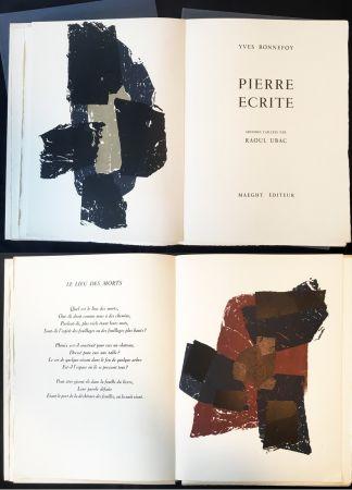 Libro Ilustrado Ubac - Yves BONNEFOY . PIERRE ÉCRITE. Ardoises taillées par Raoul Ubac