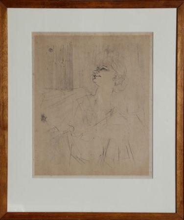 Litografía Toulouse-Lautrec - Yvette Guilbert - Menilmontant