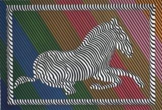 Litografía Vasarely - Zèbre n°3