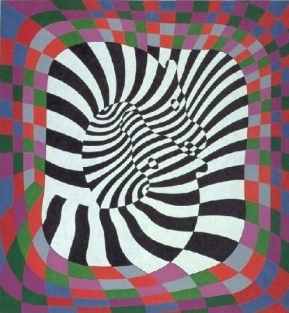 Litografía Vasarely - Zèbres