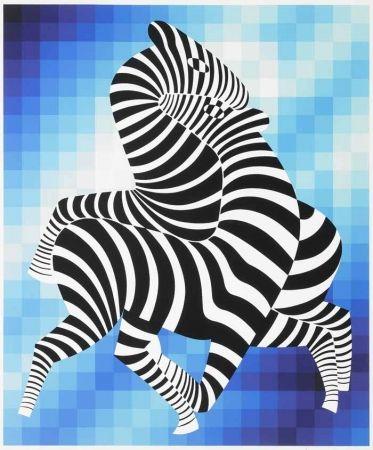 Serigrafía Vasarely - Zebras