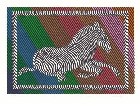 Litografía Vasarely - Zebre