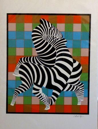 Serigrafía Vasarely - Zebres